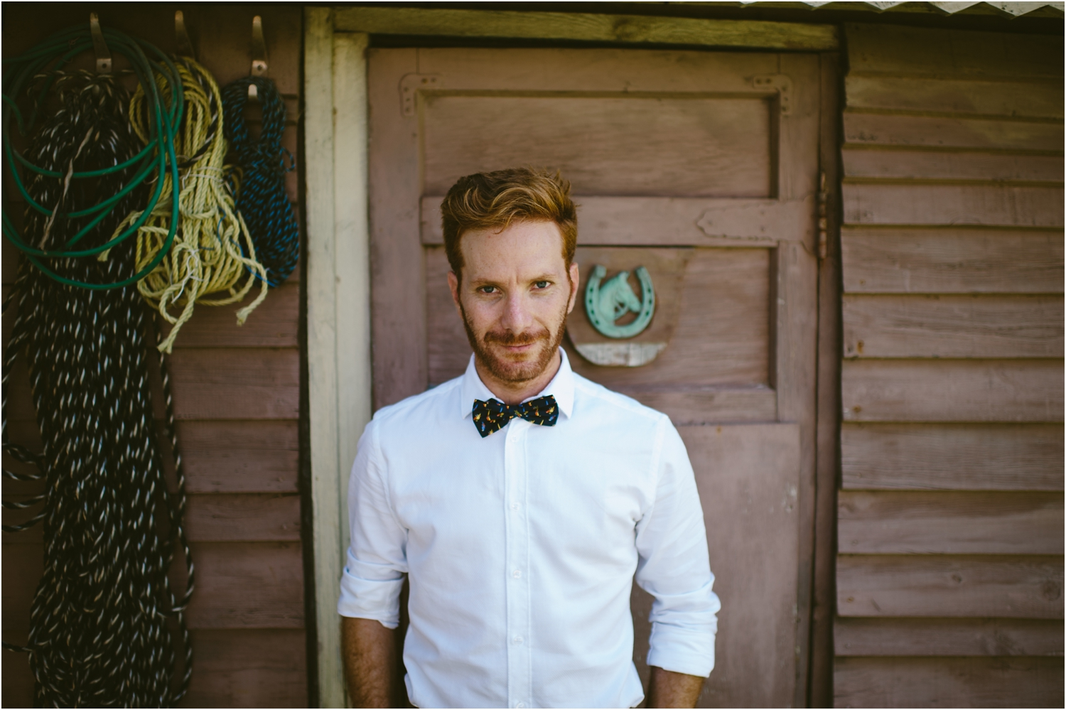 groom with bow-tie