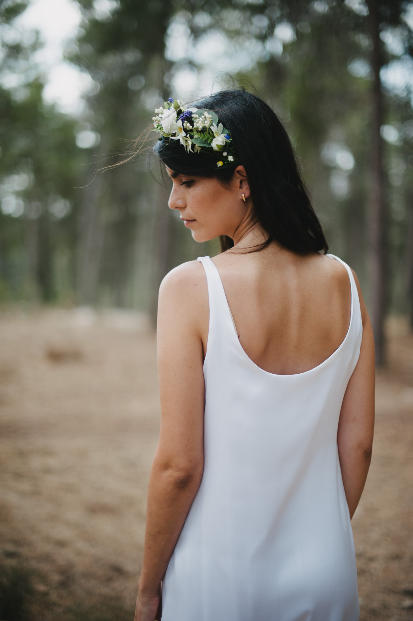 stunning bride in ben shemen forest