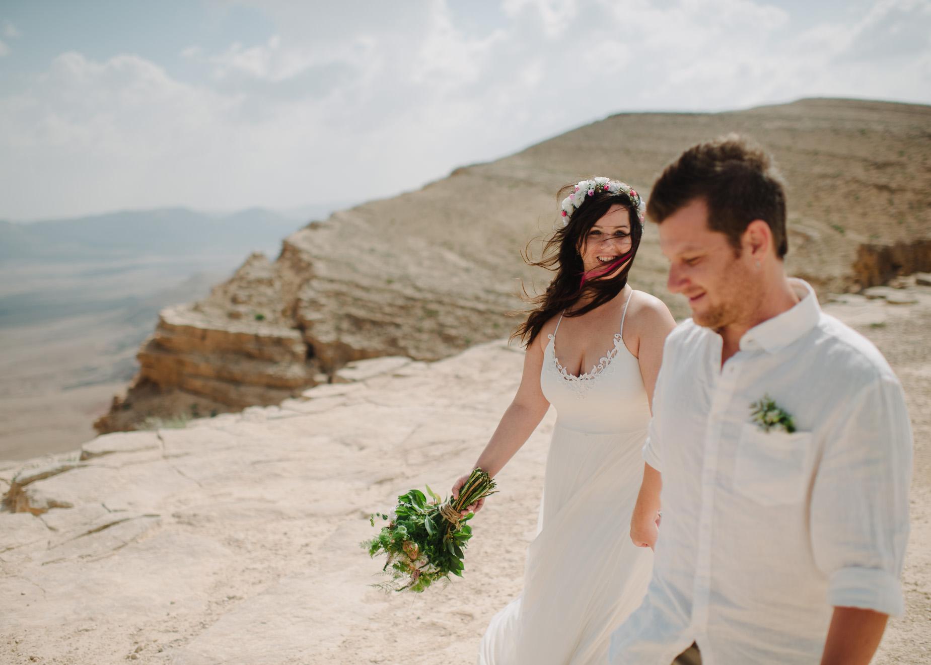 couple in desert portrait