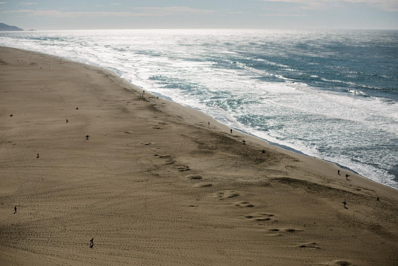 people on san Francisco beach