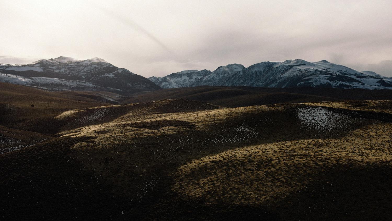 snowy mountains in june lake loop