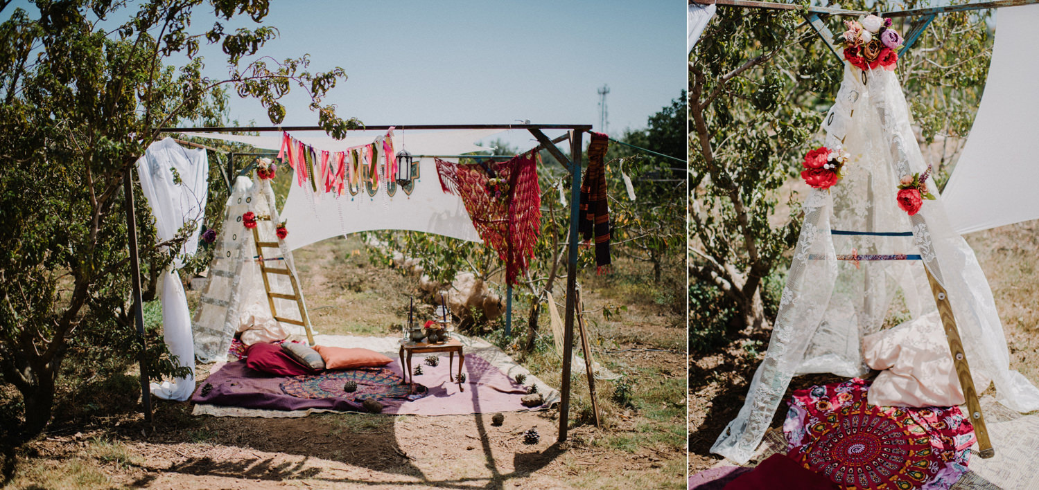 bohemian wedding in israel