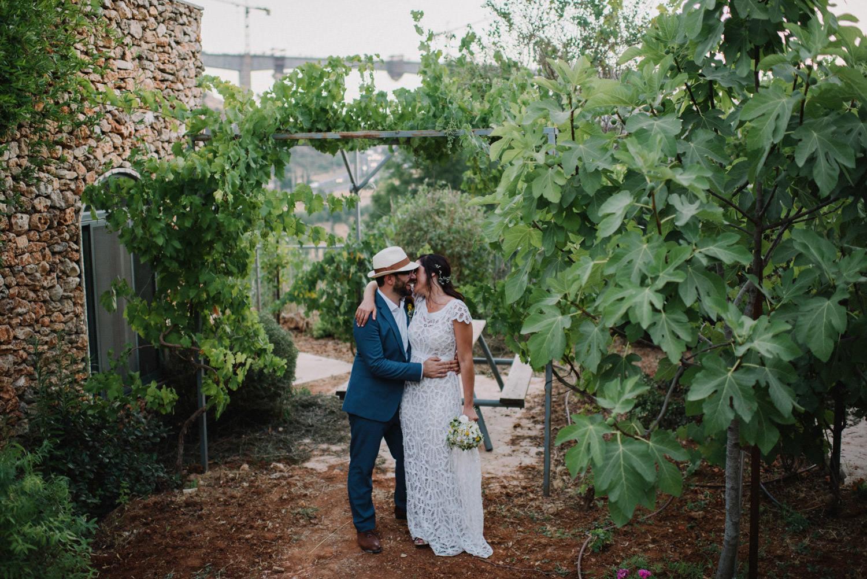 Couple in Jerusalem destination wedding
