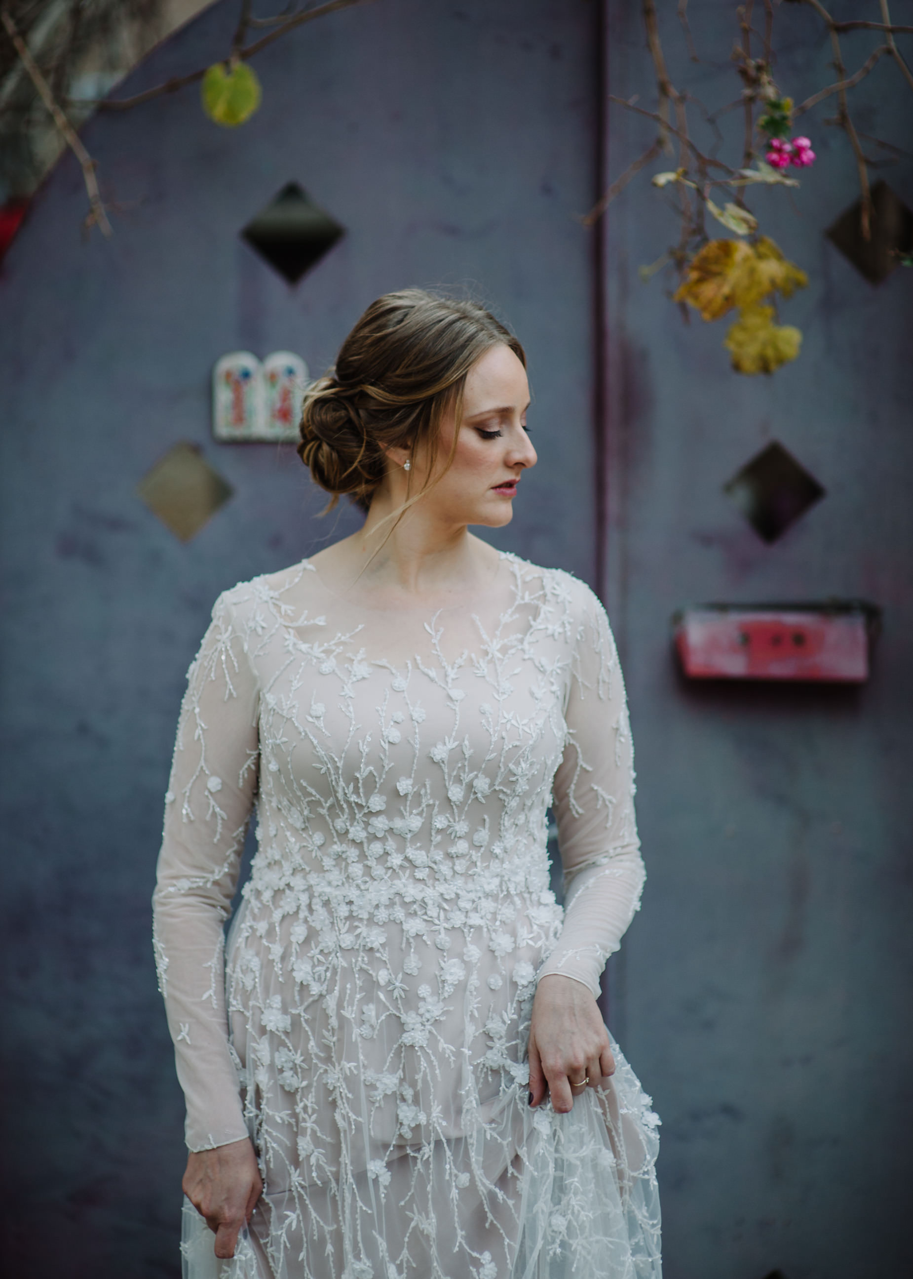 Bride in the old city of Jeusalem